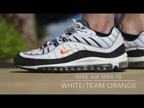 Nike Air Max 98 - White/ Team Orange