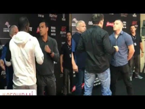 Lyoto Machida vs Derek Brunson Media Day Staredowns | UFC Sao Paulo