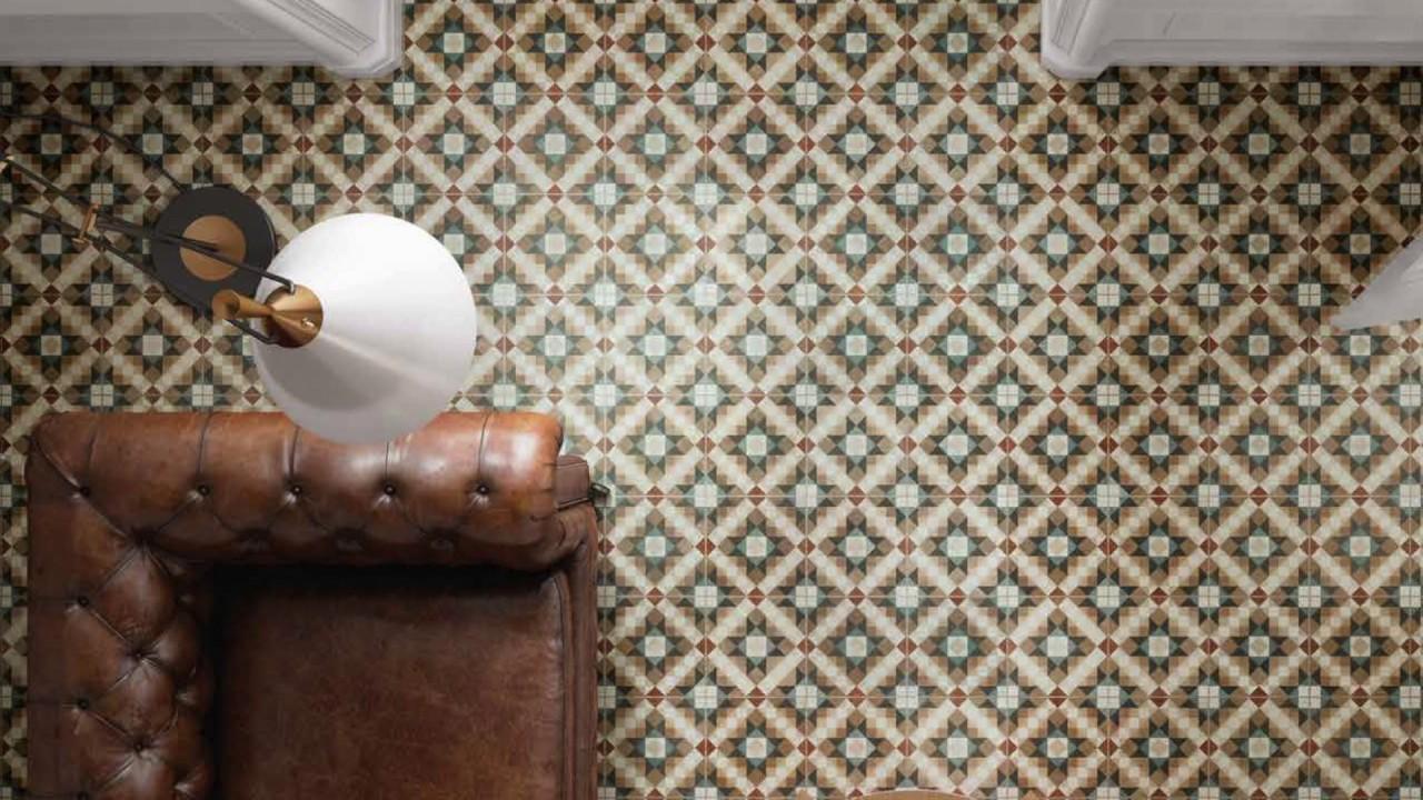 nolla geometric vintage patterned tiles tons of. Black Bedroom Furniture Sets. Home Design Ideas