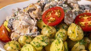 Любимое блюдо из молодой картошки и лесных грибов Лисички со сметаной Готовим дома