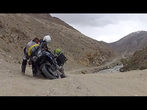 Vstrom on the Pamir Highway - Tajikistan - Along China and  Afghanistan on motorcycle