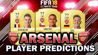 Fifa 18 | arsenal player rating predictions! | w/sanchez, ozil and koscielny