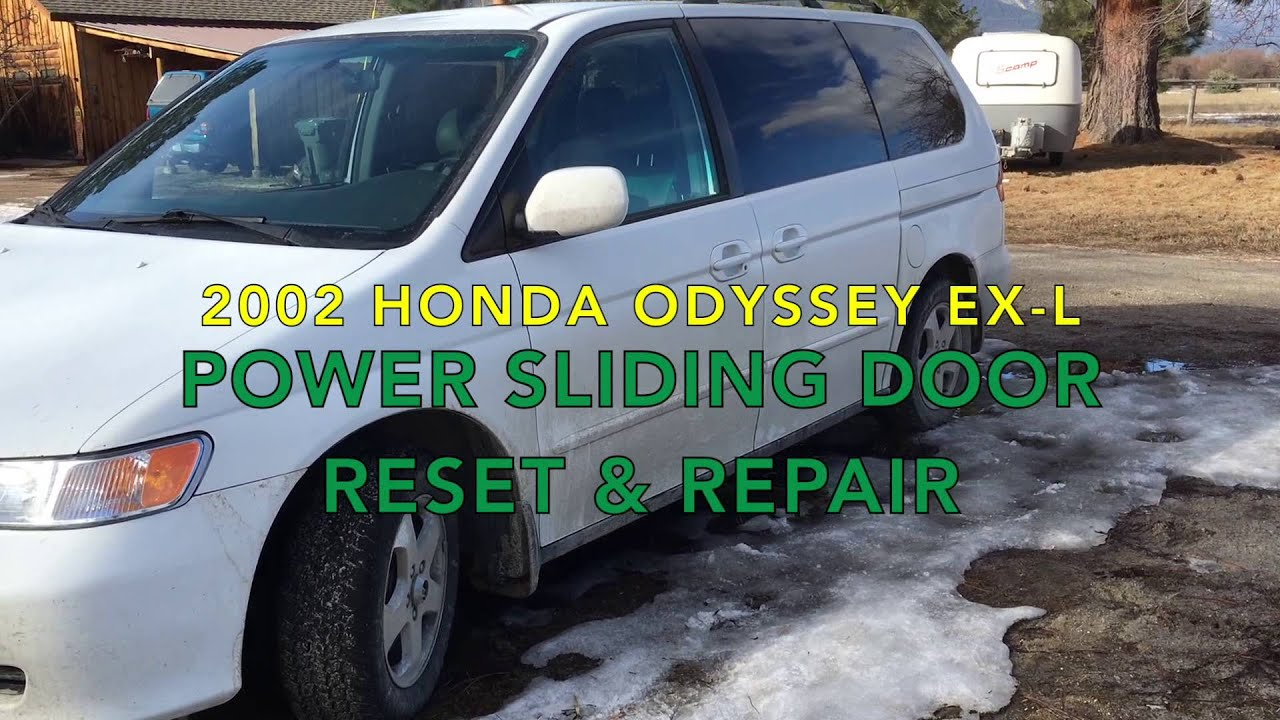 Honda Odyssey Power Sliding Door Reset And Repair Youtube