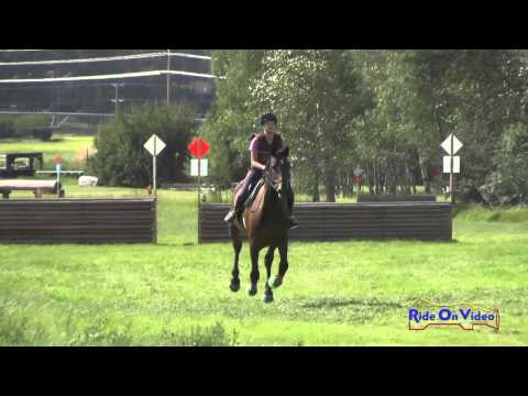 556XC Lily Seymour on Fernhill Thriller JR Novice Cross Country The Event at Rebecca Farm July 2015