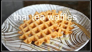 How to make THAI TEA WAFFLES | House of X Tia