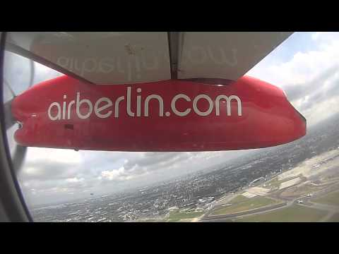 Bombardier Q400 Air Berlin take off from Warsaw [GoPro]