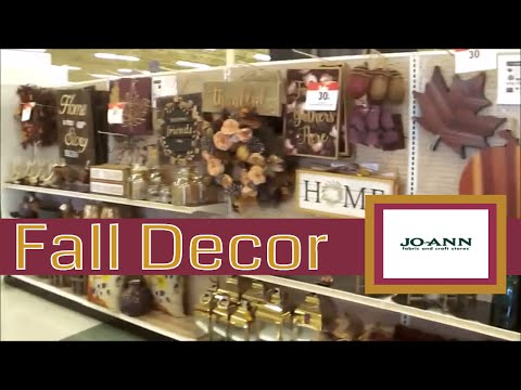 Joann's FALL Decor Shop with Me, Narrated!