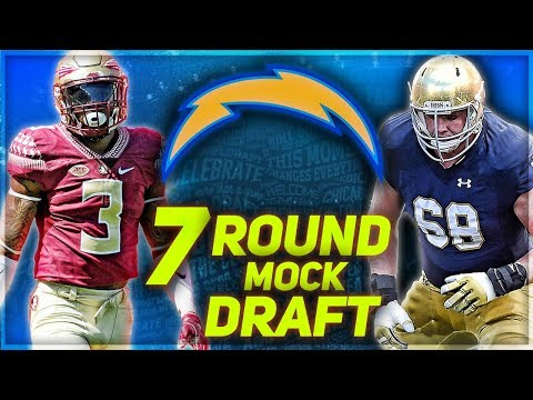 LA CHARGERS 2018 MOCK DRAFT   Chargers Land FREAKIEST Athlete In The Draft