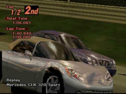 Gran Turismo 2 Arcade - Red Rock Valley Speedway Reverse