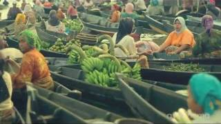 Pasar Terapung Banjarmasin   Indonesia Floating Market Hd