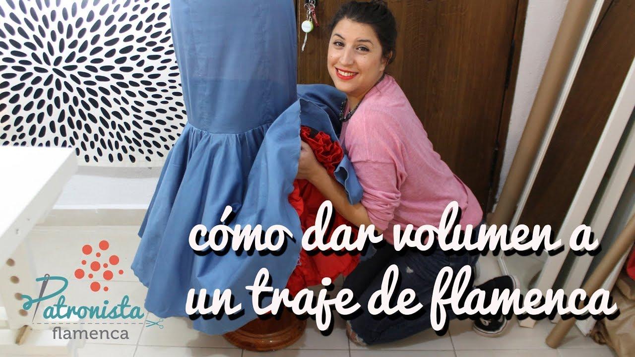 6138ecc5db33 Cómo dar volumen a un traje de flamenca.
