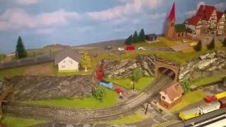 Spur N Modellbahn Tunnelportal verbessert / Test Autotransport Zug