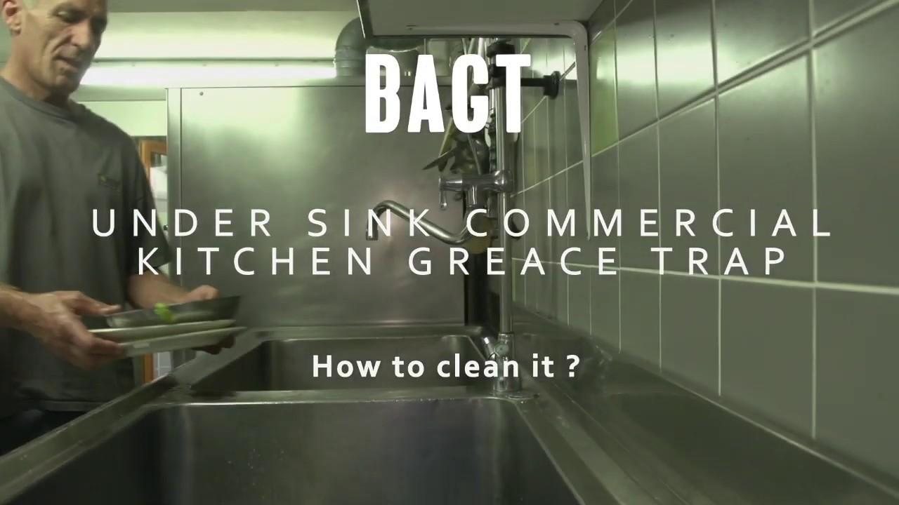 Bagt Under Sink Grease Trap Kitchen Sink Maintenance Video Sarl Developpement Durable Official Youtube