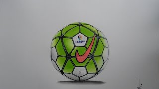 How to draw nike football league ball - speed painting