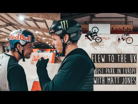 VISITING MATT JONES IN THE UK  BEST SKATEPARK IN EUROPE