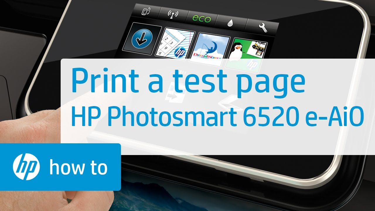 Printing A Test Page Hp Photosmart 6520 E All In One