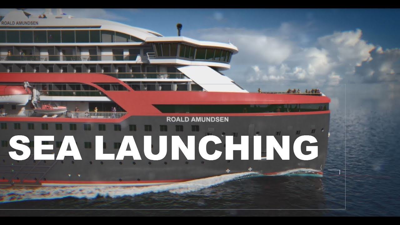 Ms Roald Amundsen Launching 17 02 2018 1080p Youtube