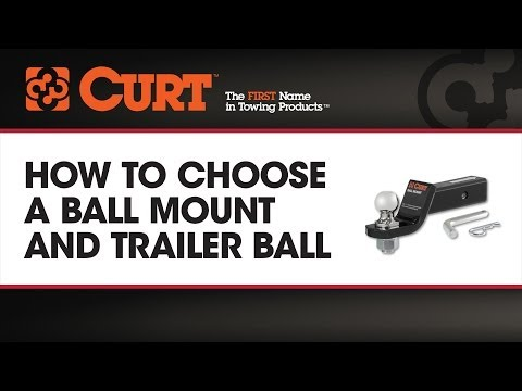 How to Choose a Ball Mount and Trailer Ball - CURT