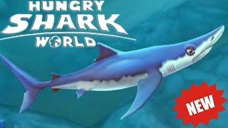 Прохождение Hungry Shark World - СИНЯЯ АКУЛА [BLUE SHARK]