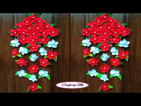 Cara Membuat Bunga Gantung dari Kain Flanel yang Mudah || Wall Decoration || Room Decor