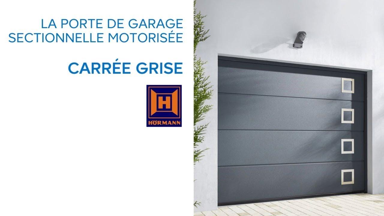 Porte De Garage Sectionnelle Carree Grise Castorama Youtube