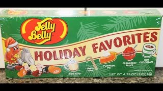 Jelly Belly Holiday Favorites Egg Nog Candy Cane Pumpkin Pie Cranberry Sauce Hot Chocolate