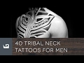 40 Tribal Neck Tattoos For Men