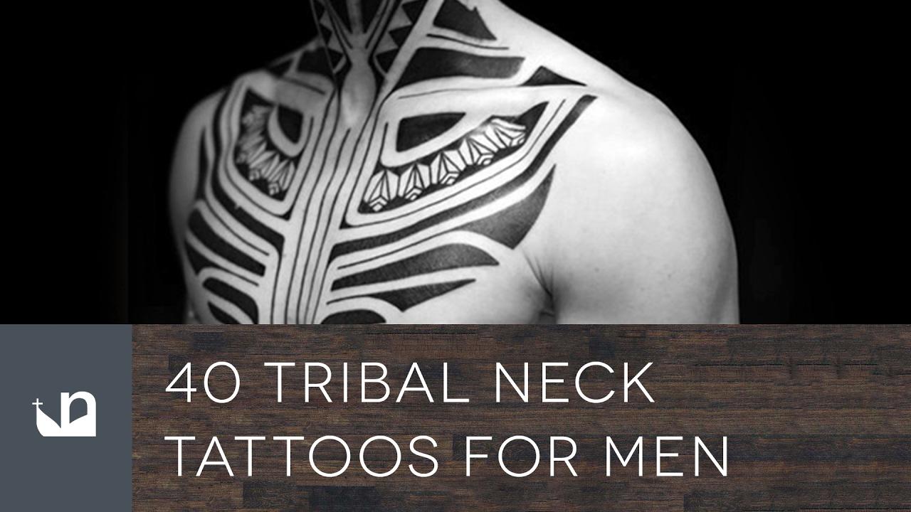 c2b97abf9 40 Tribal Neck Tattoos For Men - YouTube