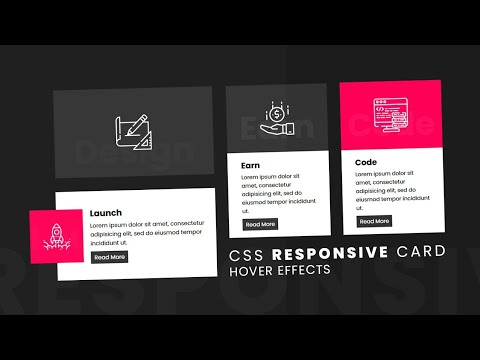 CSS Responsive Card Hover Effects | Html5 & CSS3