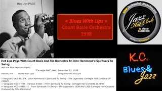 """Blues with Lips"" Count BASIE Orchestra 3 juin1938"