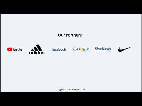 OUR PARTNERS || OUR CLIENTS CAROUSEL SLIDER || HTML ,CSS & SLICK JS LIBRARY