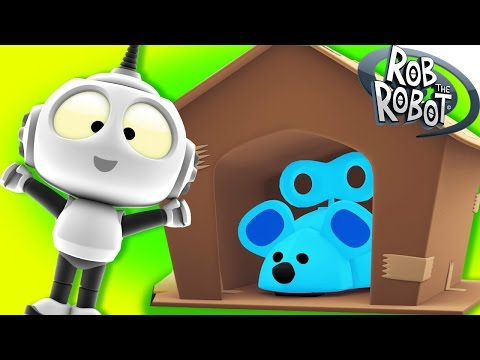 Cartoon | Rob The Robot - Ep#22 The Mouse House | Funny Cartoons For Children