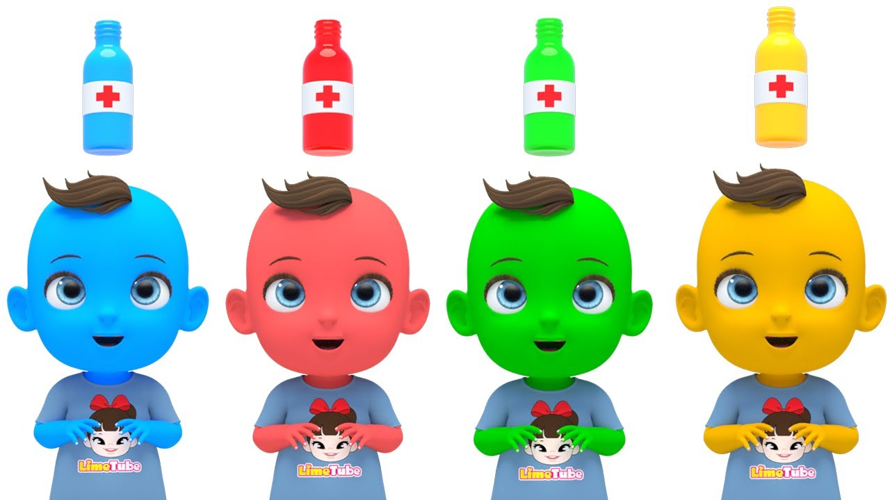 5 Colors with Nursery rhymes English Song For Kids | Wash your hands No Virus!!  | Super Lime