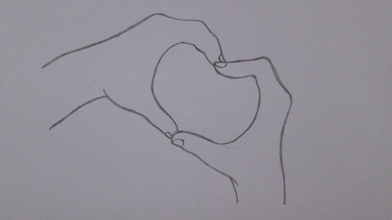 Desenhos Tumblr De Mão Estalando Como Fazer: How To Draw Hands Making A Heart