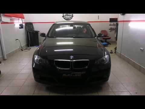 Xenon Carbon Garage BMW E90 full restoration front light morimoto bixenon light angel eyes cob led