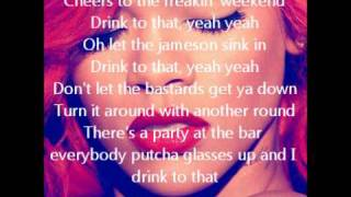 Rihanna- Cheers (Drink To That) with On Screen Lyrics