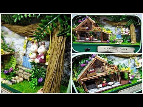 "DIY Dollhouse Miniature Tin Box - ""Countryside Notes"""