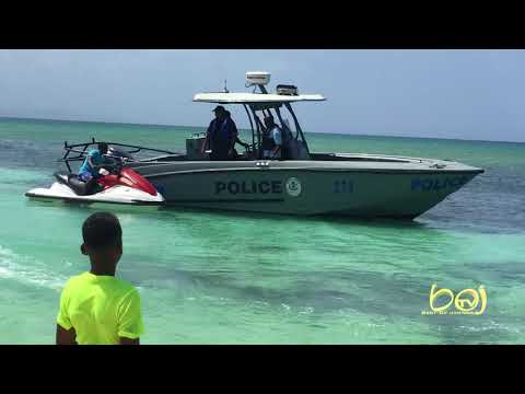 JET SKI RIDER  ESCAPES FROM MONTEGO BAY MARINE POLICE