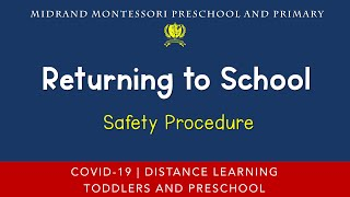 Safety First Your Induction - What to do when we return to school