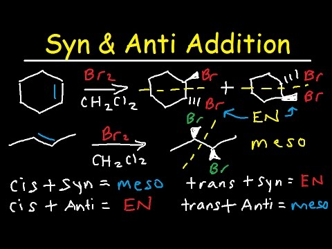 Syn Addition And Anti Addition - Enantiomers, Meso Compounds, Constitutional Isomers & Diastereomers