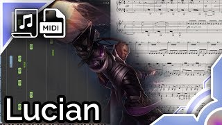 Lucian login theme - League of Legends (Synthesia Piano Tutorial)