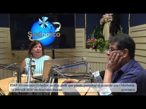 RMP: El ministro Zeballos no dijo nada que pueda perturbar el acuerdo con Odrebetch