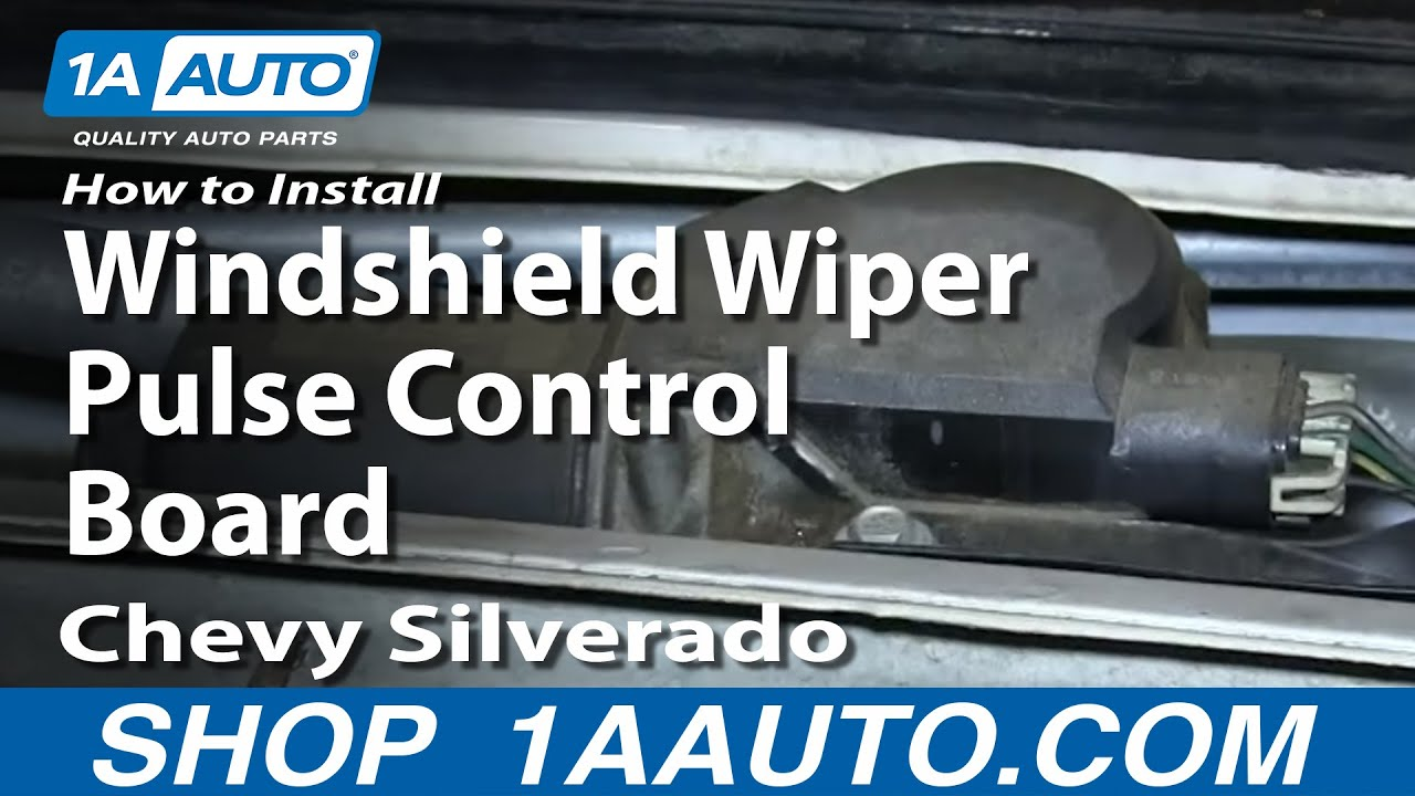how to install replace windshield wiper pulse control board 1999 02 chevy silverado gmc sierra youtube [ 1920 x 1080 Pixel ]