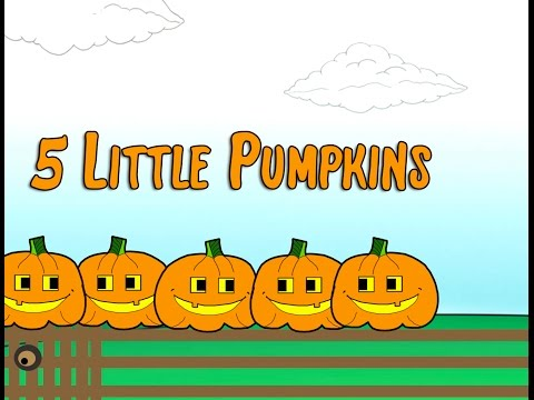 5 Little Pumpkins Sitting on a Gate Childrens Song  Halloween Lyrics  Counting  Patty Shukla