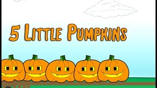 5 Little Pumpkins Sitting on a Gate Children's Song | Halloween Lyrics | Counting | Patty Shukla