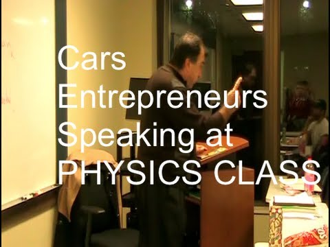 Cars, CNG Fracking Natural Gas, Entrepreneur = American! Amid Speaking at Physics Class