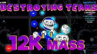 Agar.io Party: DESTROYING TEAMS/BIGGEST CELL - 12K MASS!