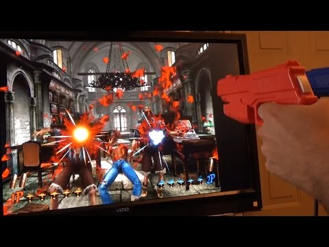 Demul - House of the Dead 2 using two guns with DemulShooter by DarthMarino
