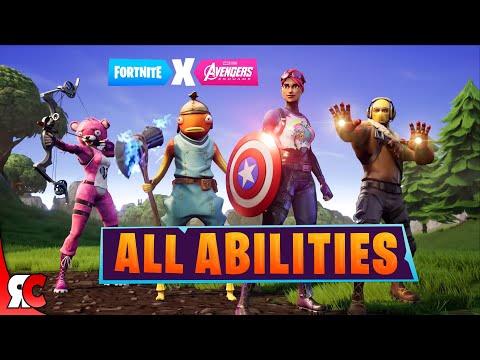 Fortnite X Avengers | All HERO & THANOS & STONE Abilities (Endgame Powers In Season 8)