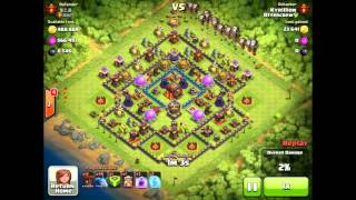Clash of clans - BaMi attack 2 star on max base plus lottery